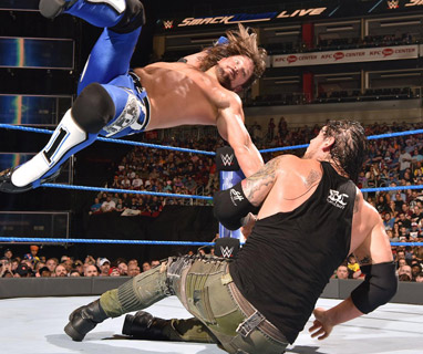 AJ传奇飞肘数秒淘汰科尔宾